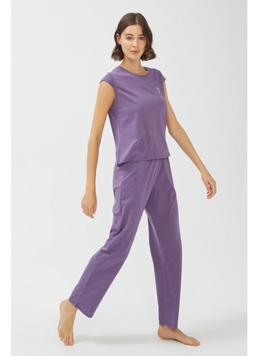 Penti Base Purple Pijama Takımı Renkli